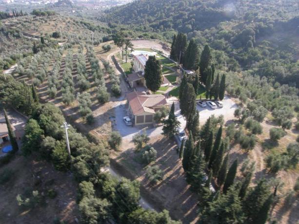 panoramica Antico Casale in Toscana
