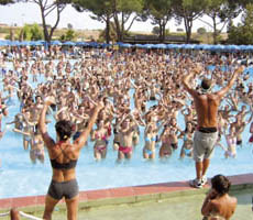 Entertainments and water shows at Hydromania, Rome