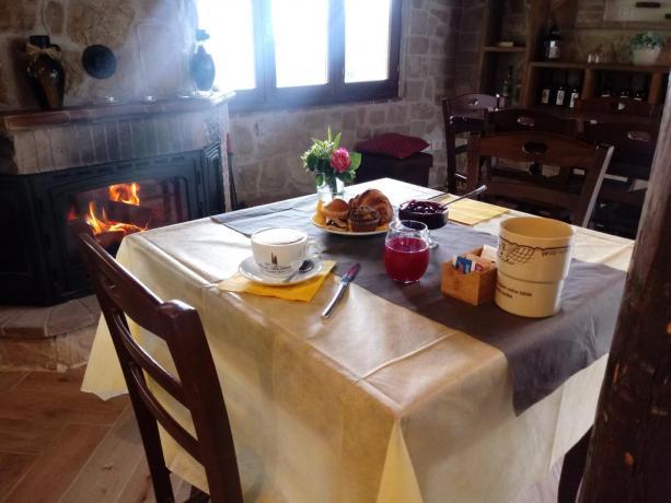 Colazione nell'Hotel Umbria Resort - Vacanza a Fabro
