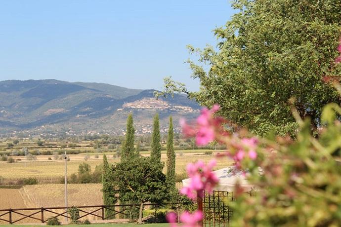 Vista della Valle dell' Agriturismo