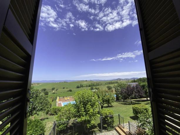 IlPadrone- Camera con vista panoramica sulle colline