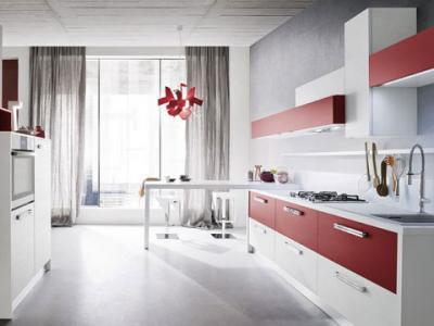 Cucina componibile bicolore mod onda cucine componibili for Cerco cucine componibili nuove in offerta