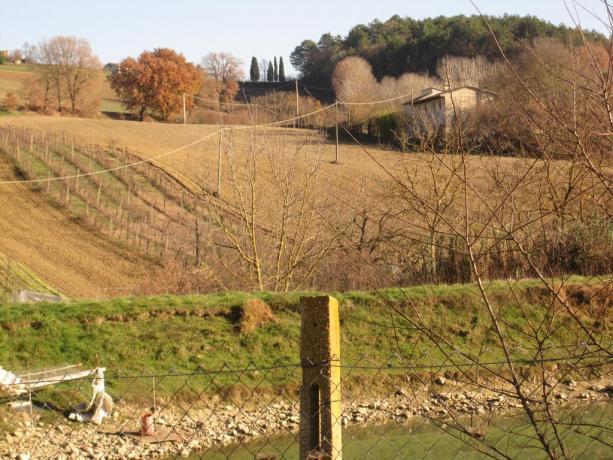 Panorama paesaggio umbro a Montone