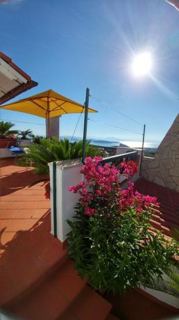 Terrazzo solarium casa vacanze vicino Ischia Porto