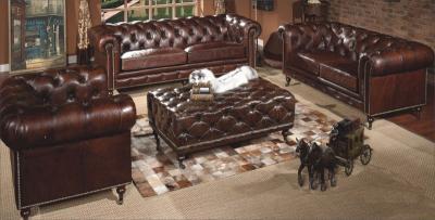 Salotto Vintage in Cuoio marrone