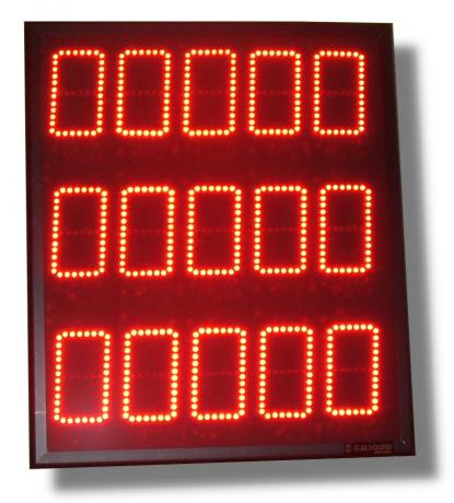 Display elettronico industriale a led alfanumerico