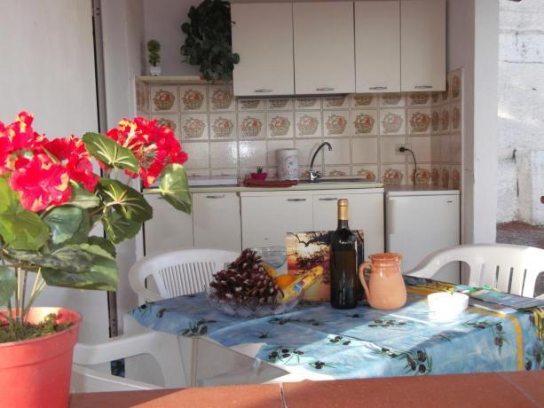Bungalow con cucina, villaggio Turistico Palinuro