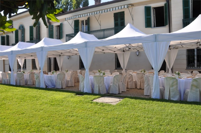 Gazebo ideale per catering e rinfreschi all'aperto