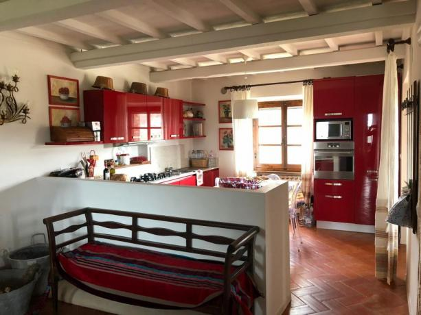 Villa per vacanze, cucina attrezzata