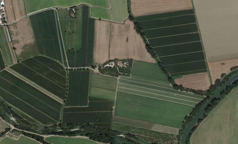 Mappa Vista Dall'Alto Agriturismo I 2 Fiumi