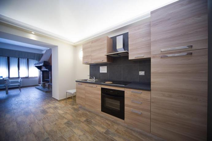 Casa-vacanze Bardonecchia appartamento con uso cucina e camino