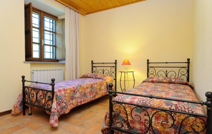 Camera con letti singoli Appartamento Glicine vicino Trasimeno