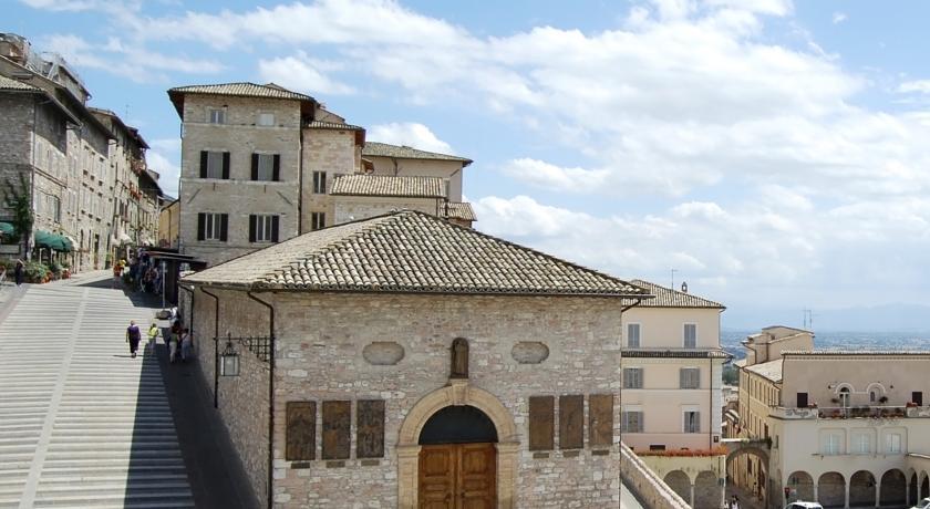 Particolare vista, vie del centro storico, Assisi