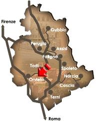 La mappa della zona