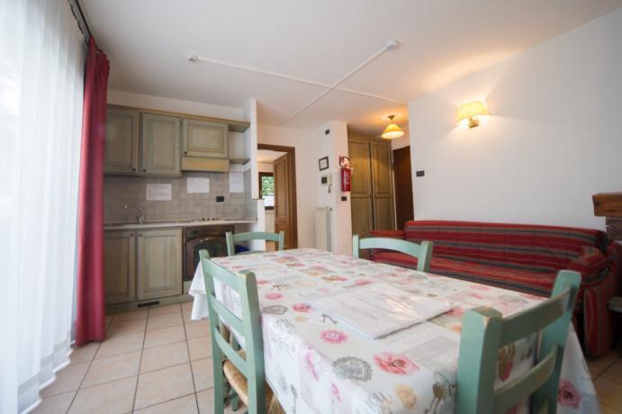 Appartamento-vacanze bilocale 5posti letto Bardonecchia angolo cottura