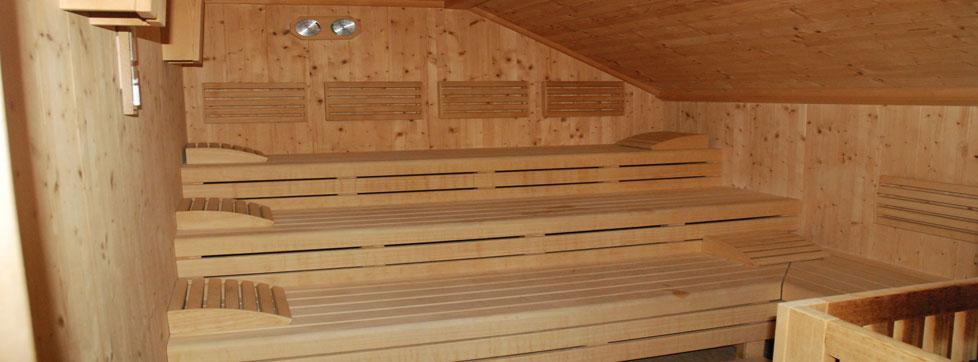 sauna centro benessere sulle dolomite