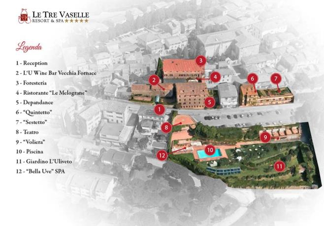Legenda location Resort Le Tre Vaselle