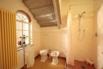 Bagno con doccia e biancheria inclusa