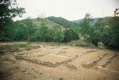 Resti dell'insediamento etrusco dell'Accesa