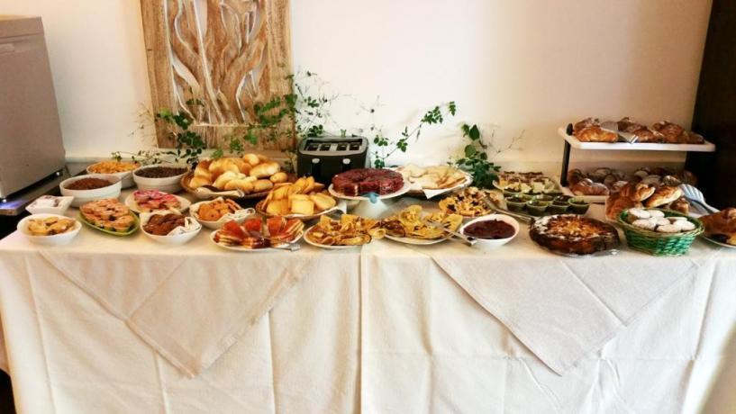 Camere ad Alcamo in Sicilia, colazione a buffet