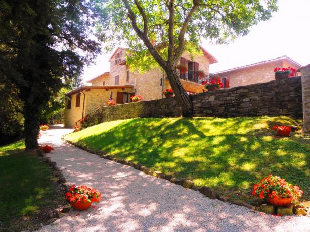 Camere e Appartamenti Vacanza a Gubbio in Umbria
