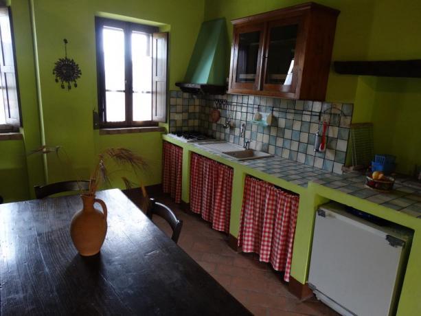 Angolo cucina con Salotto appartamenti Passignano