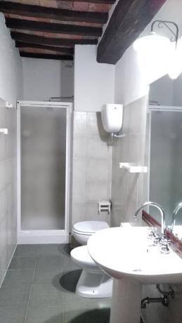 Bagno privato con doccia appartamenti vacanze Castiglione-del-lago