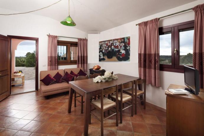 Salotto Appartamenti Graniti Orosei con vista panoramica