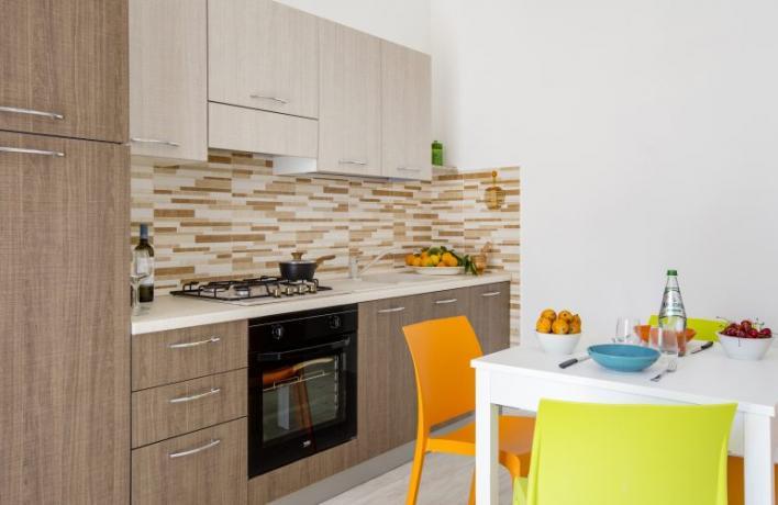 Casa vacanze vicino al mare San-Vito-lo-Capo cucina completa