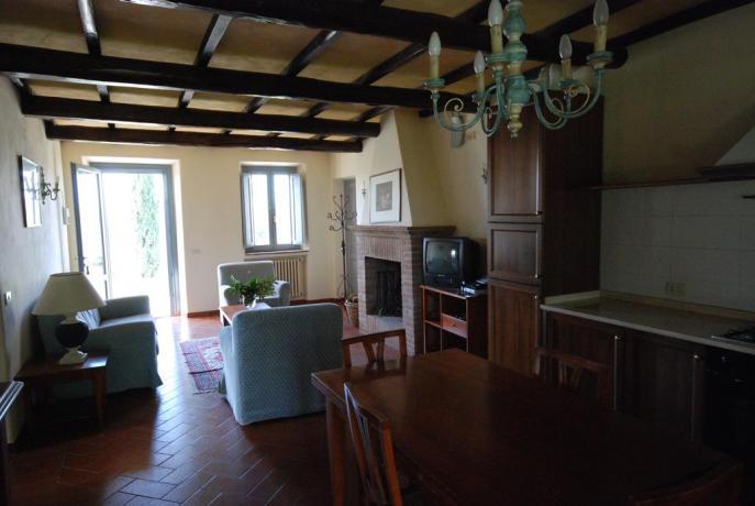 Angolo cottura + divano tavolo Casolare Vacanza Terni