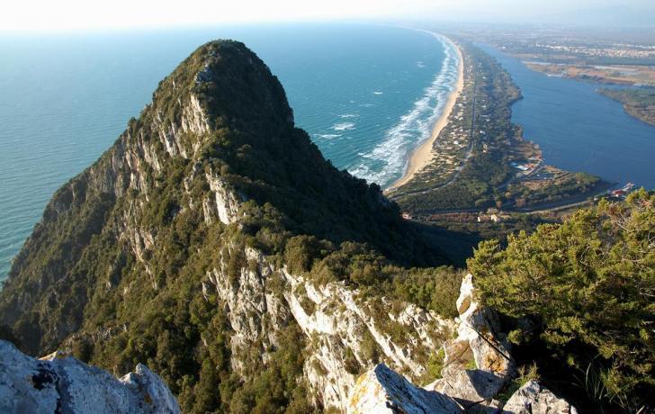 Promontorio con vista mare nel Lazio