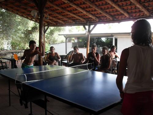 Tornei di ping pong in Villaggio dei bambini