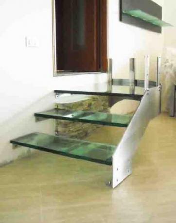 acciaio inox e vetro