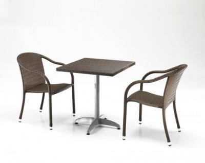 Tavolo quadrato da esterno, forniture contract