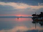 Magnifici colori al tramonto