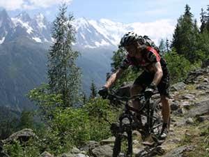 Mountain bike in Chamonix