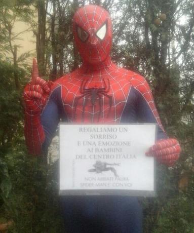 BAMBINI..NON ABBIATE PAURA ANCHE SPIDER-MAN E' CON VOI
