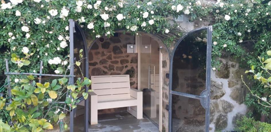 Ingresso Sauna in Villa sul Lago Trasimeno