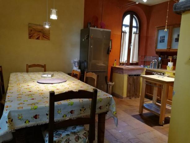 Sala colazioni del B&B in Toscana