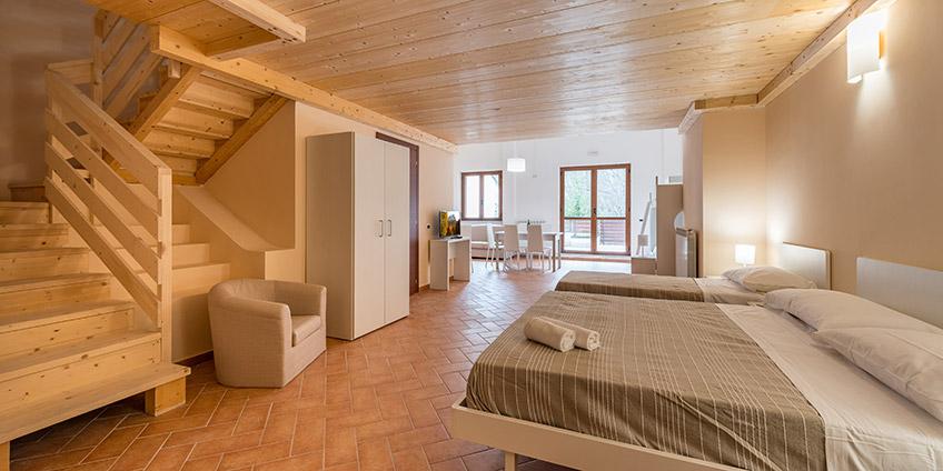Quadrilocale 7 posti Residence Piccolo Corno Gran Sasso