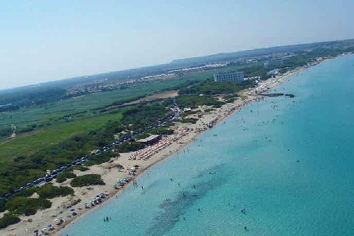 Vista spiaggia Marina di Mancaversa nel Salento