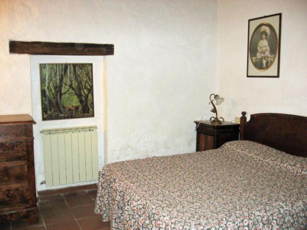 Camera matrimoniale appartamento Erica Lago Trasimeno