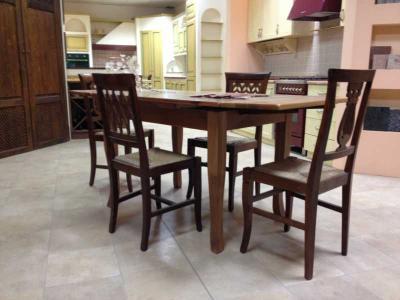 Tavolo allungabile per cucina legno massello Cucine Legno Massello ...