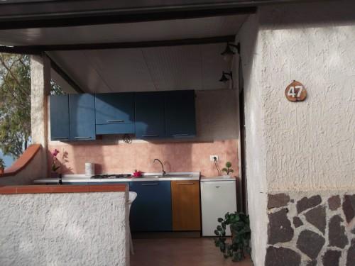 Veranda con Cucina in Villaggio a Palinuro