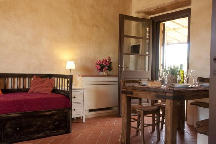 patio, appartamento 4 persone, vacanza in Toscana