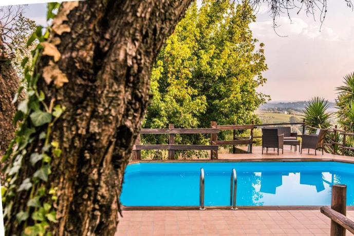 Piscina panoramica, casa vacanza Montebuono-Rieti