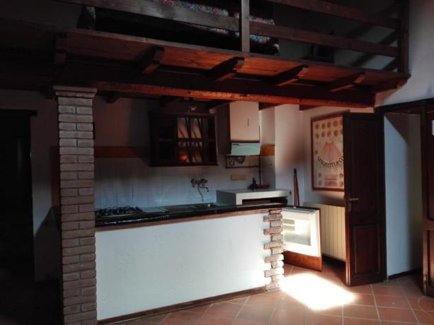 Appartamento Perugia con salone mansarda e cucina