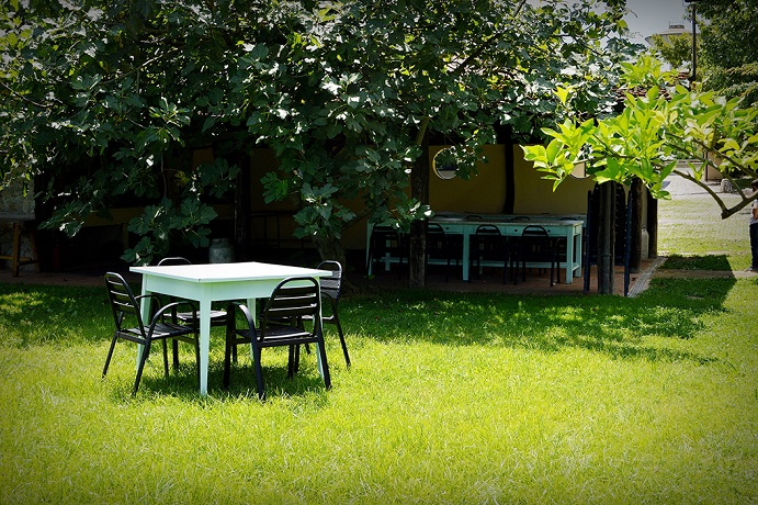 Giardino esterno privato