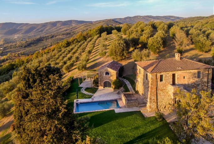 villa-vacanza con piscina e spa in Umbria Lago-Trasimeno