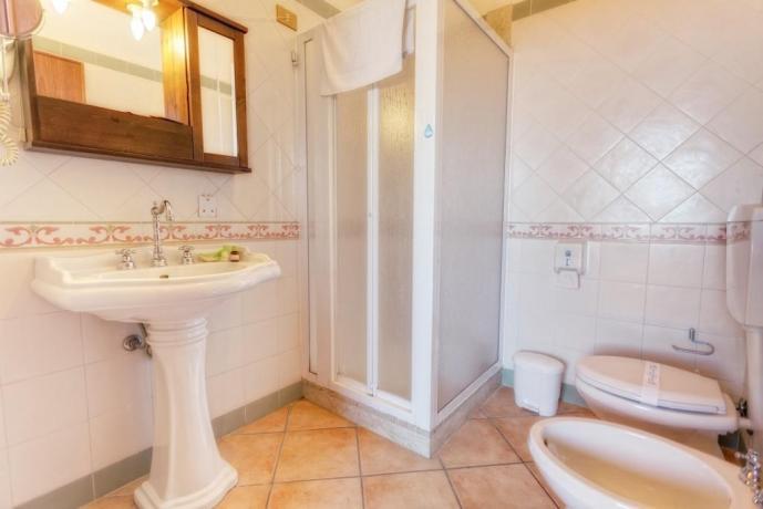 Bagno privato con box doccia Agriturismo Trapani